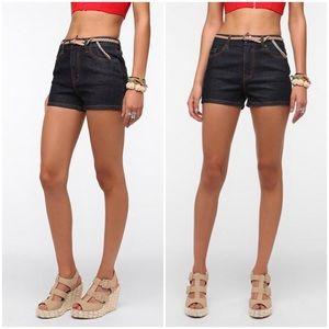 NWOT Urban Outfitters Erin High Waist Denim Shorts